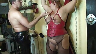 Breasts torture and spanking ...