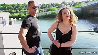 jacky et michel - big tits in amateur euro hardcore with cumshot