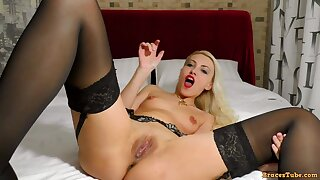 JOI Squirting Pro Wide Open Cunt - Blond Hair Baby Solo