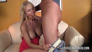 Chap-fallen mature blonde Erica Lauren adequate a big horseshit