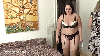 Busty Sarah Jane's older woman lesbian agree to bear